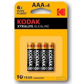KODAK XTRALIFE PILA ALCALINA AAA LR03 BLISTER4