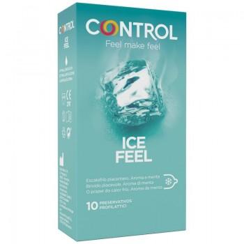 CONTROL ICE FEEL PRESERVATIVOS EFECTO FRIO 10 UNIDADES