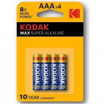 KODAK MAX SUPER PILA ALCALINA AA LR6 BLISTER4
