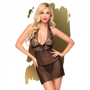 PENTHOUSE SWEET SPICY CHEMISE NEGRO S M