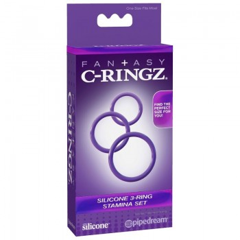 FANTASY C RINGZ 3 ANILLAS SILICONA STAMINA S