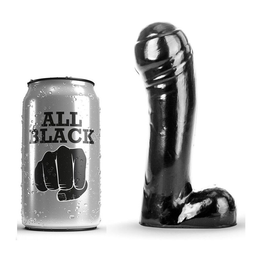 ALL BLACK DILDO NEGRO 15CM