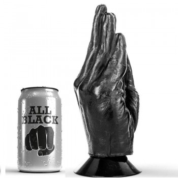 ALL BLACK DILDO FISTING 21CM