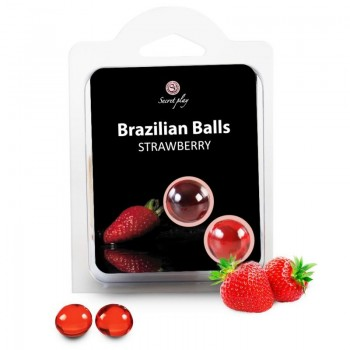 SECRETPLAY BRAZILIAN BALLS FRESAS SET 2 BOLAS
